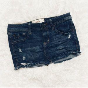 Hollister Distressed Denim Skirt Size 25/1